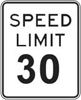 30 mph Speed Limit Sign