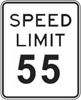 55 mph Speed Limit Sign