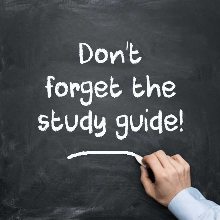 Don't forget the driver license study guide