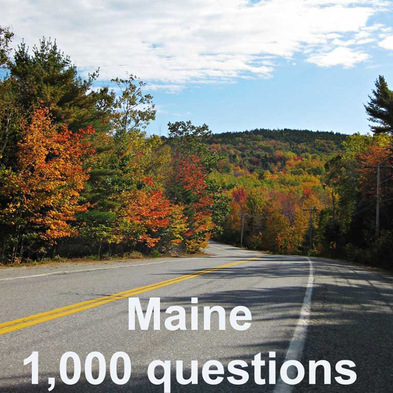 2016 Maine BMV Test Questions
