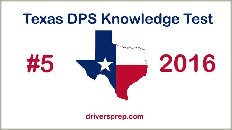 Texas DPS Written Test No. 5