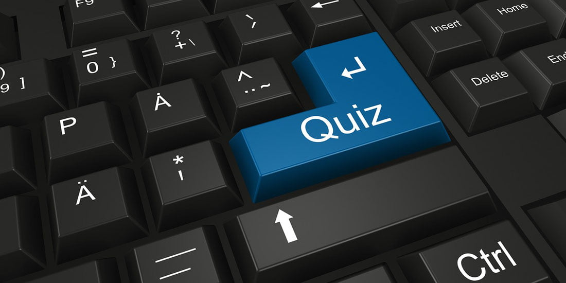 Keyboard with quiz key