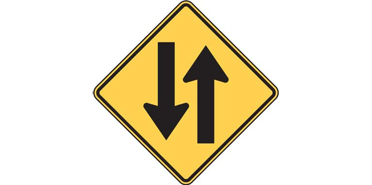 Road signs - W6-3 Two-way Traffic