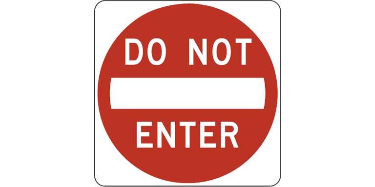 R5-1 Do not enter