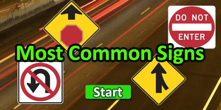 Quiz-A-Go-Go - Most Common Road Signs