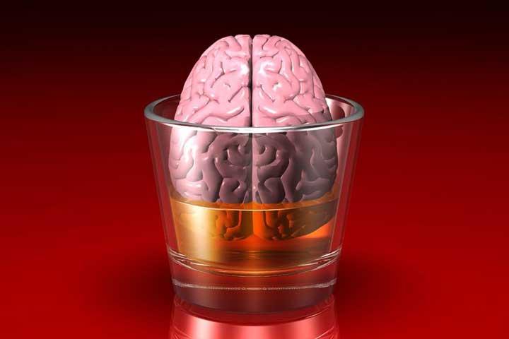 brain in a glass - illustration by norebbo