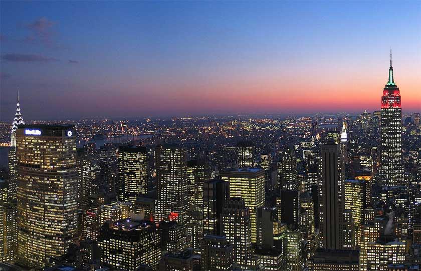 Manhattan in twilight - Credit: Dschwen
