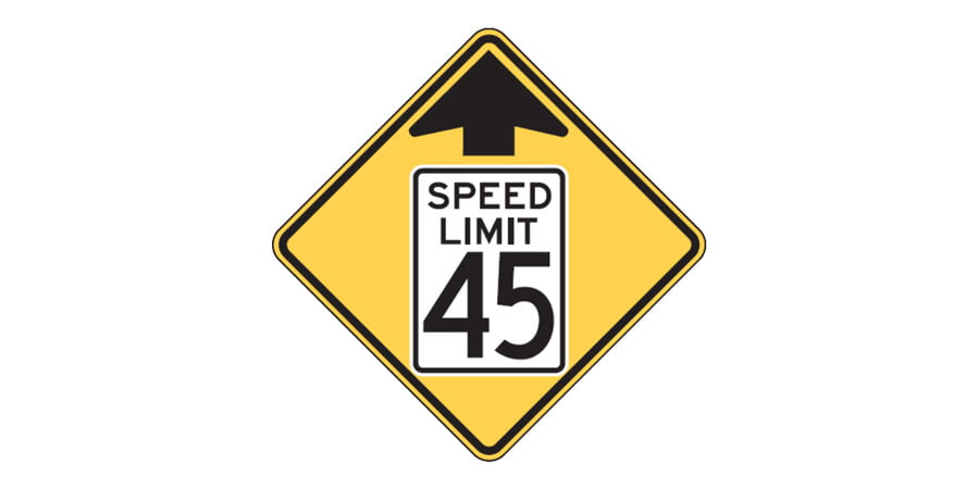 Reduced Speed Limit Ahead