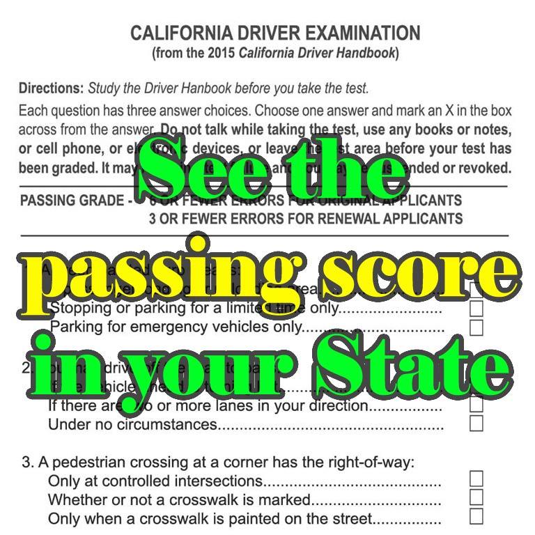 Passing Score on the DMV Test