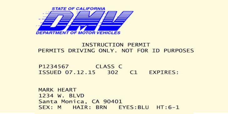 Image: California DMV Permit - Driver's Prep