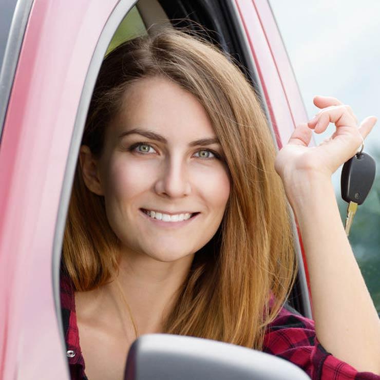 Woman with car keys - Copyright : Olena Mykhaylova