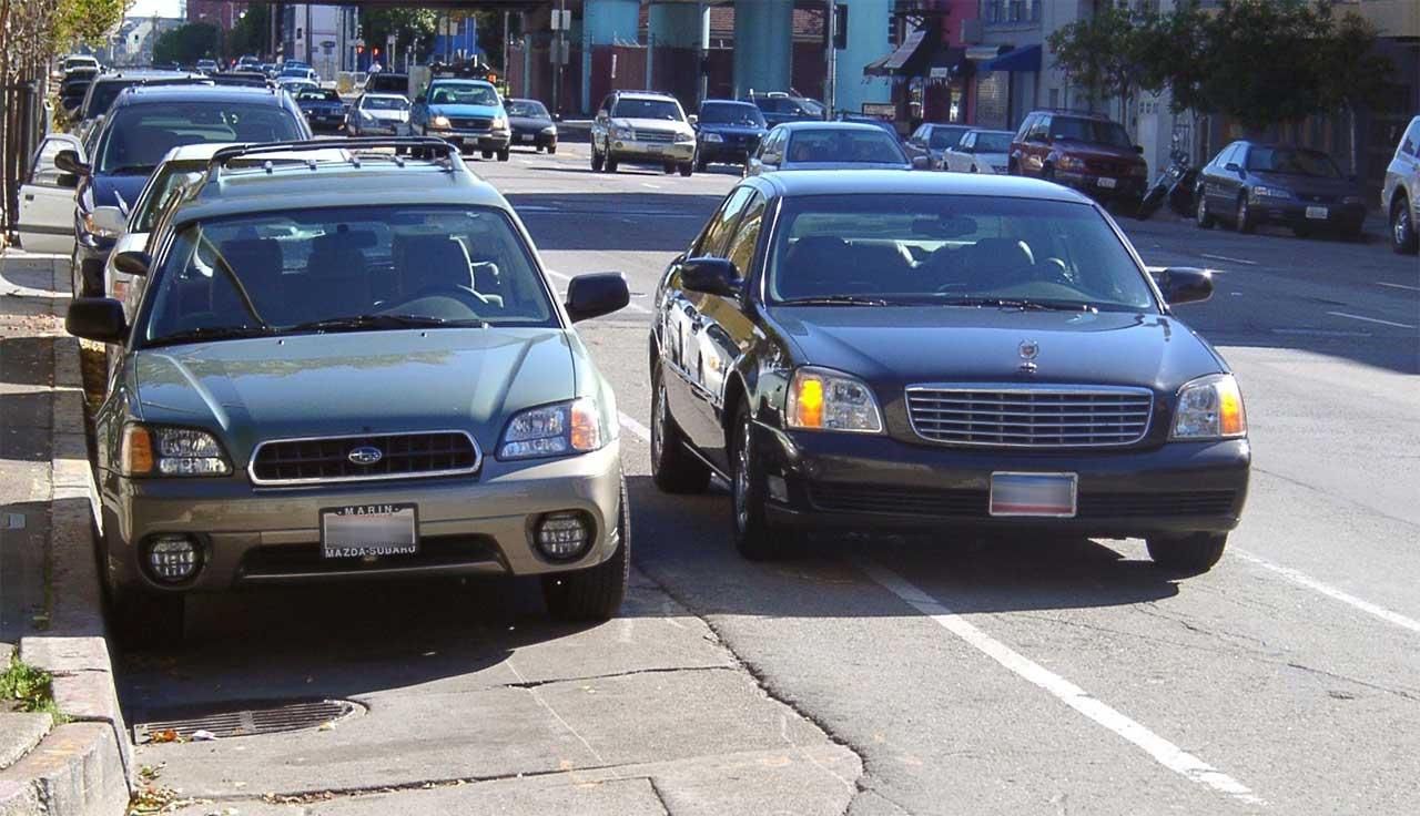 Double parking - photo by Pretzelpaws