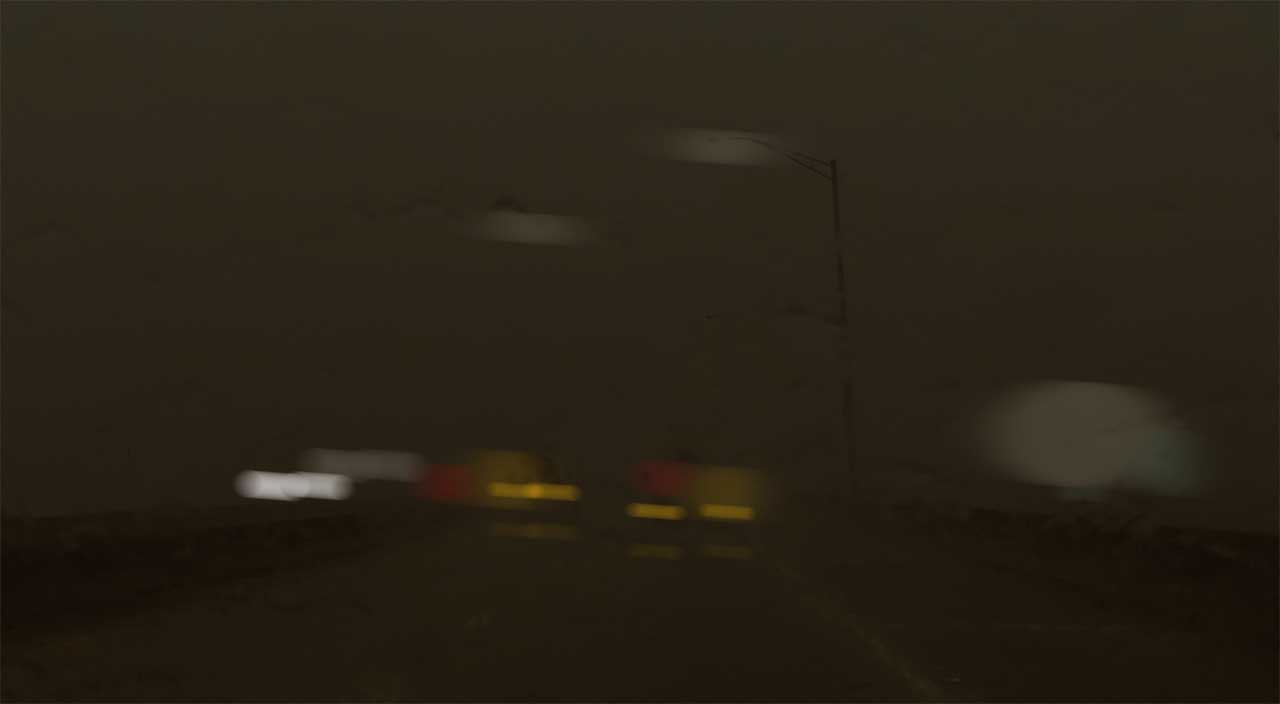 Vehicles with emergency flashers at night - copyright: driversprep.com