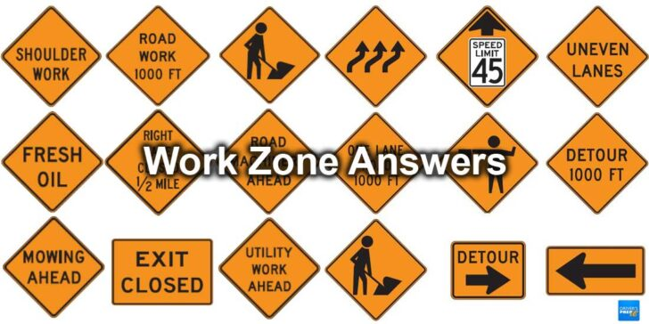 Work Zone Answers You Must Know for Your DMV Test