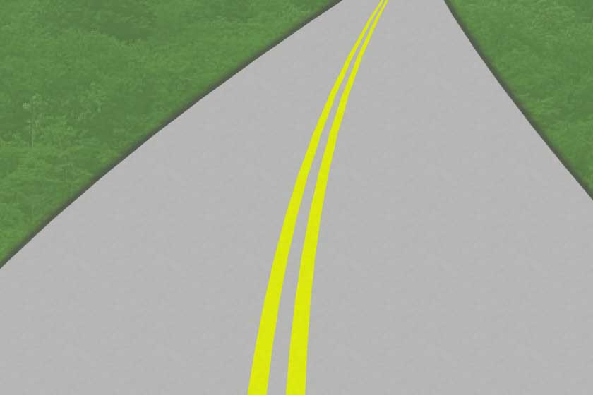 A double solid yellow line - Copyright: driversprep.com
