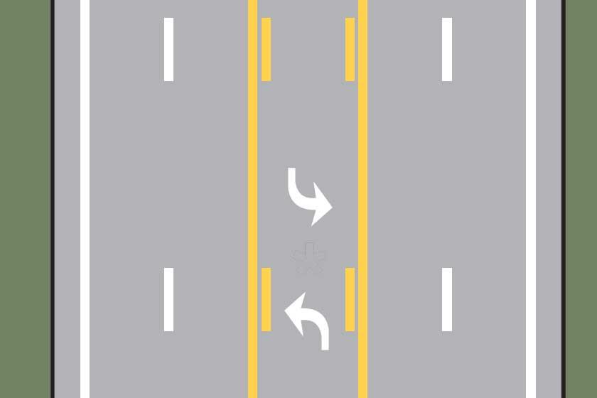 Two-way left-turn lane
