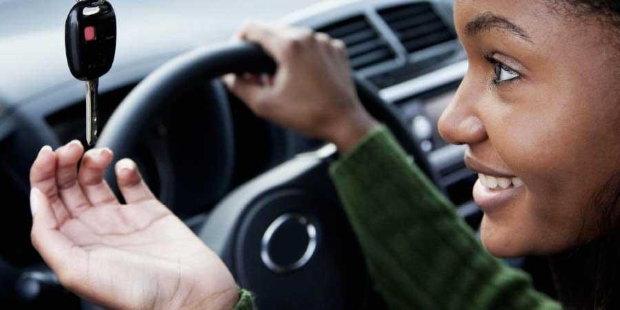 Girl behind the wheel - Courtesy: dmv.nebraska.gov