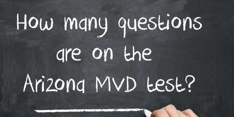 How many questions are on the Arizona MVD Test?