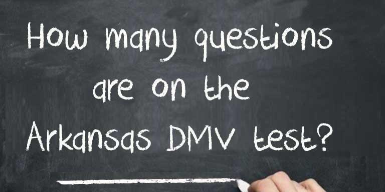 How many questions are on the Arkansas DMV Test?