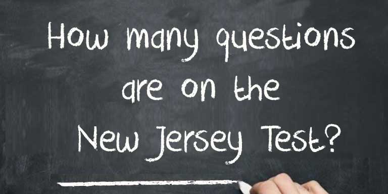 How many questions are on the  New Jersey MVC Test?