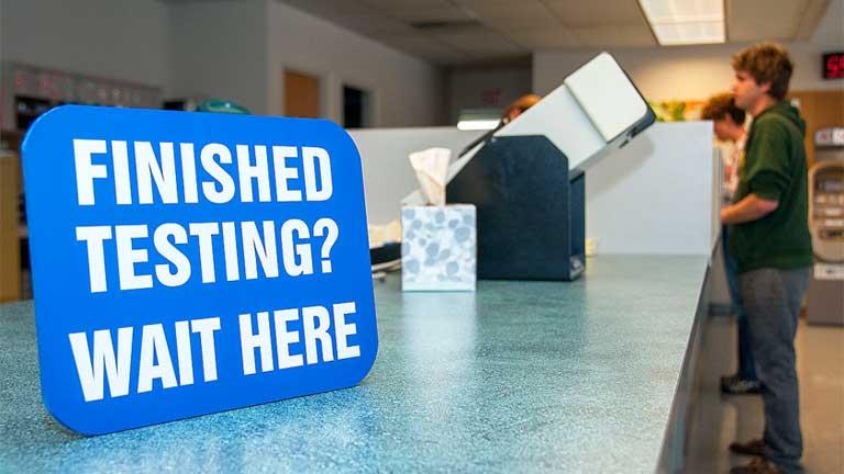 Oregon DMV Testing Desk