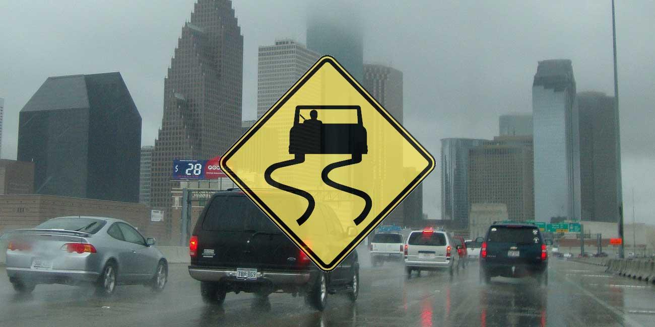 Driving in Rain - Slippery When Wet