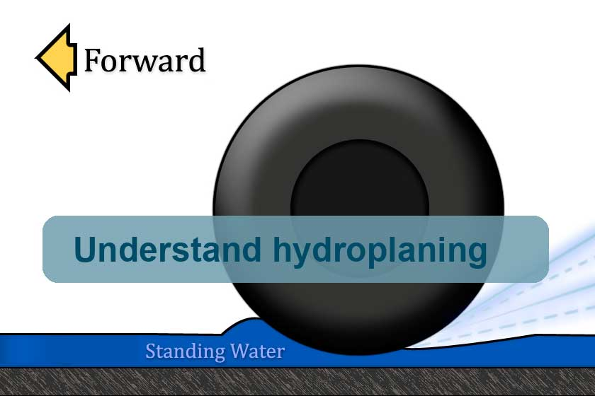 Understand hydroplaning and know what to do