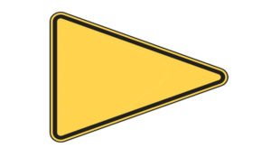 Pennant Shaped Road Sign - What Does It Mean?