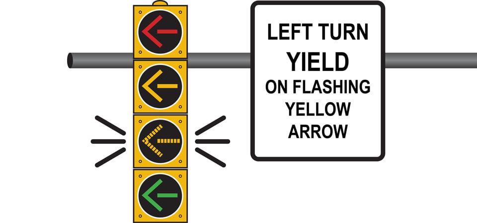 Left Turn Yield On Flashing Yellow Arrow
