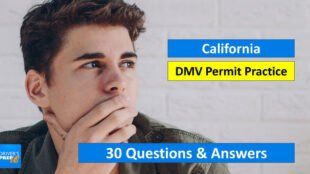 30 Test Questions for the California DMV Test