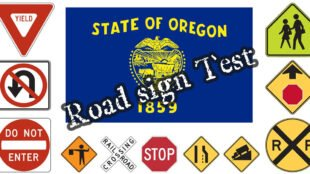 Video: road sign test for the Oregon DMV Exam