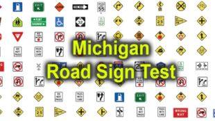 Michigan road sign test