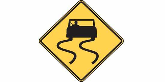 Road sign quiz illustration at driversprep.com