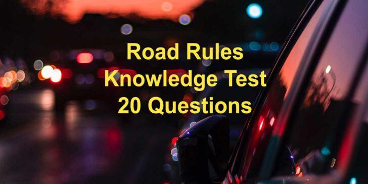 Illinois Road Rules Test
