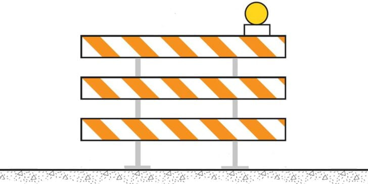 Barricade pass on the right